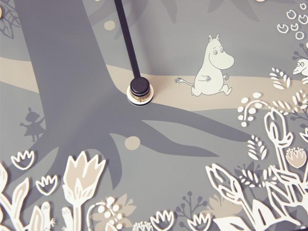 ムーミン 時計 壁掛け Moomin in the forest タイムピーシーズ グッズ ウォールクロック Wall clock ガラス お祝い プレゼント ギフト