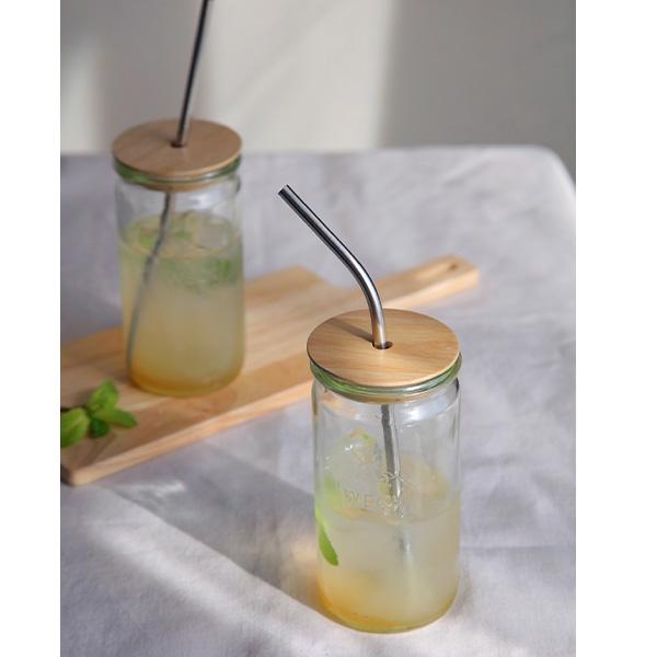 WECK ウェック ドリンクボトル ストレート 340ml ガラス コップ タンブラー ドリンク 保存容器 かわいい 入れ物 WW-S107 おしゃれ シンプル いちご