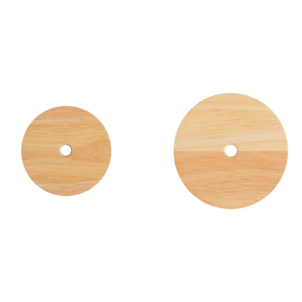 weck 木蓋 フラット トップ 蓋 木のフタ 穴あき M サイズ 木製 WECK シリコン パッキン付 メール便 対応 ウェック 穴付き かわいい FLAT TOP WOODEN LID WW-024M