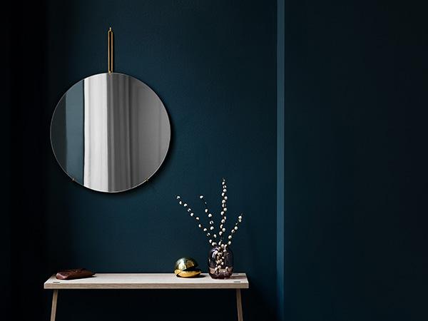 MOEBE ウォール ミラー 50cm ムーベ WMBR50 ブラス ブラック クロム 壁掛 鏡 ふちなし 円形 インテリア 北欧 おしゃれ シンプル WALL MIRROR