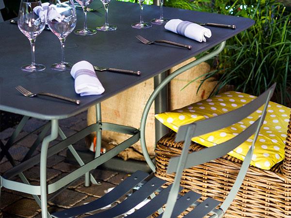 屋外用 スクエア テーブル 57H Fermob bistro フェルモブ ビストロ 高さ 74cm 折りたたみ カラー 全4色 メタル スチール ガーデン 庭