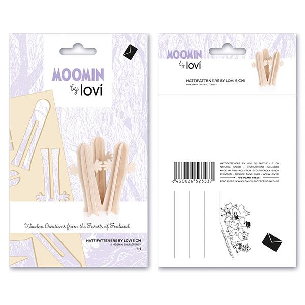 lovi ムーミン ニョロニョロ 5cm Lovi ロヴィ メール便 対応 北欧 カード型 木製 シンプル 北欧 グリーティングカード オーナメント