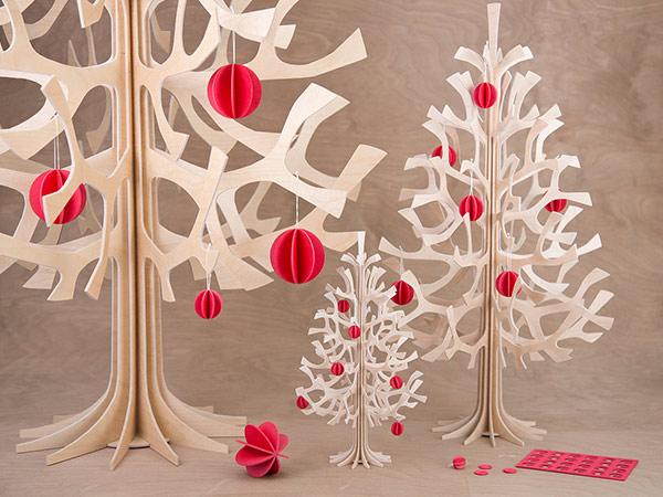 木製 オーナメント ボール 7cm 6個セット lovi ロヴィ なくなり次第終了 北欧 ナチュラル クリスマス グリーティングカード 組み立て 簡単 シンプル おしゃれ