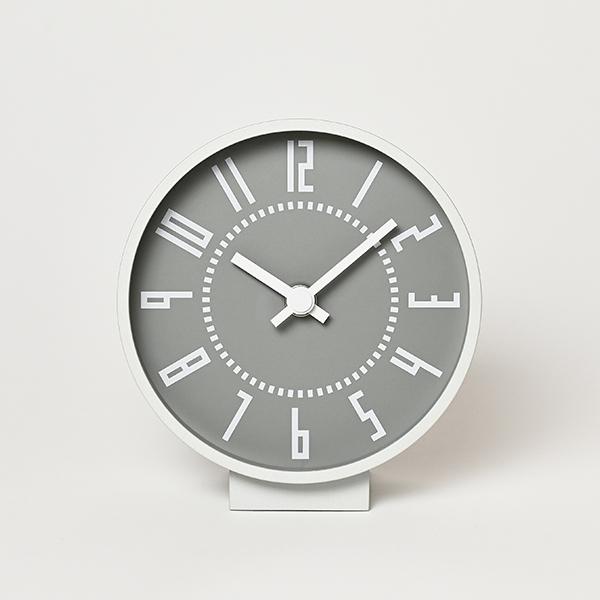レムノス 置き時計 時計 エキ クロック エス eki clock s おしゃれ 送料無料 かわいい シンプル TIL19-08 ホワイト ブラック プレゼント ギフト 五十嵐威暢