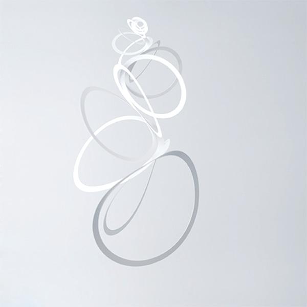 paperwreath モビール awa 泡 L サイズ 伊藤千織 デザイン ペーパー リース 日本製 耐水紙 ホワイト おしゃれ シンプル インテリア 飾り