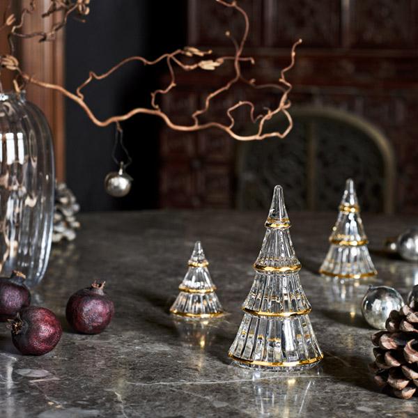 クリスマス ツリー L 13.5cm ホルムガード ゴールド ガラス 飾り テーブル オーナメント おしゃれ オブジェ HOLMEGAARD FAIRYTALES 4800402