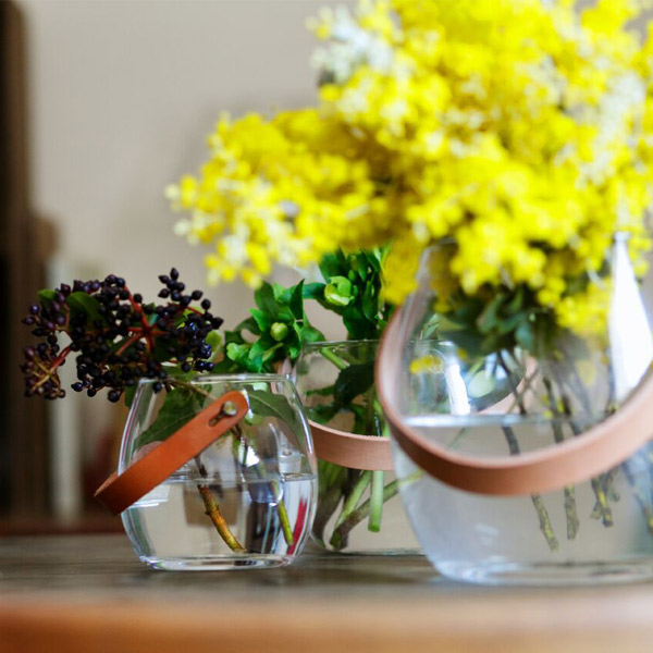 ホルムガード ボウル クリア HOLMEGAARD ポット クリア H16cm フラワーベース 花瓶 小物入 ガラス デンマーク 北欧 ガラス インテリア