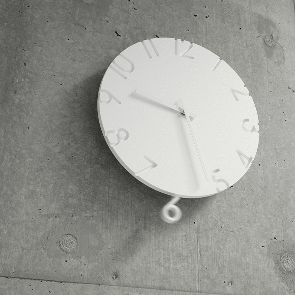 レムノス 振り子時計 掛け時計 時計 壁掛け シンプル おしゃれ Lemnos カーブド スウィング CARVED SWING NTL15-11 ホワイト プレゼント ギフト 静か 送料無料