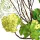 フェイクグリーン ドウダンツツジ マグノリアリーフ スノーボール ガラスシリンダー 卓上 造花 人口 観葉植物 フロアグリーン GREENPARK H105cm PRGR-1030 葉