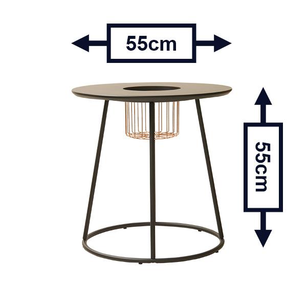 ブトン テーブル 550 ガルト GART 高さ55cm プランター スタンド ブラック ホワイト センターホール 観葉植物 フラワー おしゃれ サイド