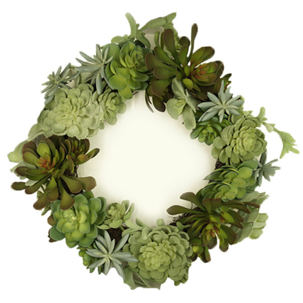 多肉植物 サキュレント リース 41cm フェイク グリーン 造花 植物 ナチュラル 玄関 インテリア リビング シンプル 北欧 枯れない 可愛い おしゃれ 多肉 室内