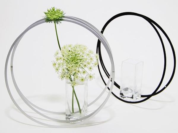 花瓶 おしゃれ フラワーベース 花器 一輪挿し アルミ ガラス シンプル モダン 和風 ブラック 日本製 生け花 生花 和 EN S エン アルアート ALART GEN-1B