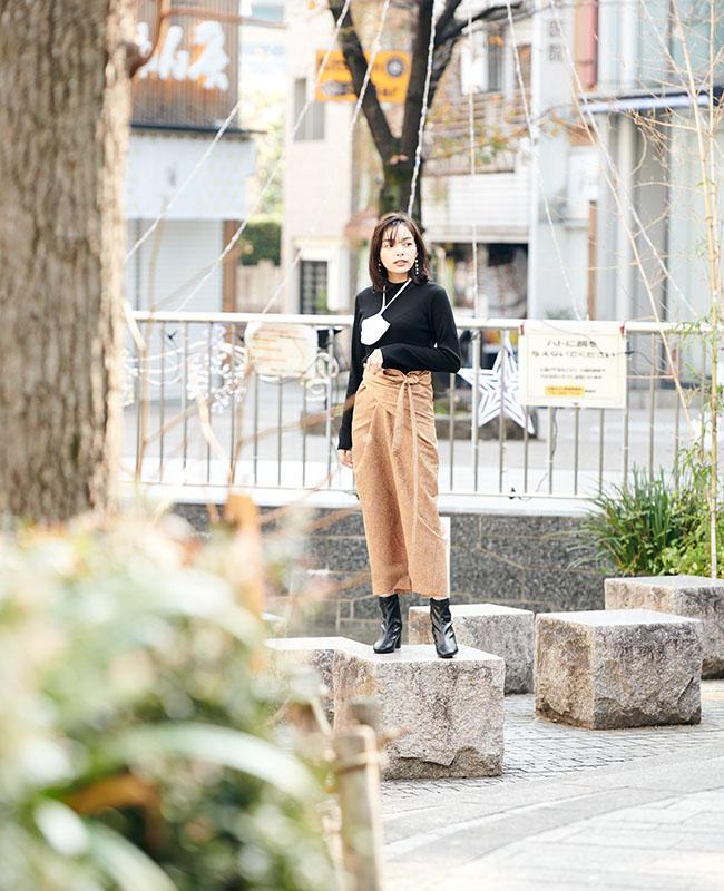 ツイストタイトスカート 【ジャガード ペイズリー】