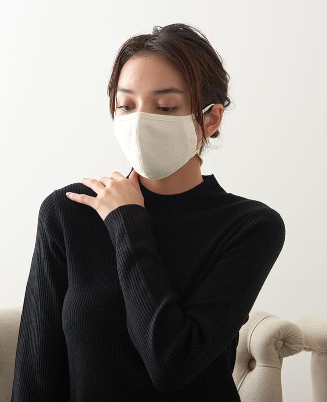 ネックストラップマスク サテンジャガード