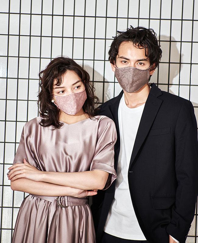 ネックストラップマスク 艶クレープ 【CanCam4月号/VERYweb掲載】