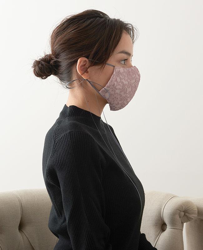 メイクアップマスク サテン x レース