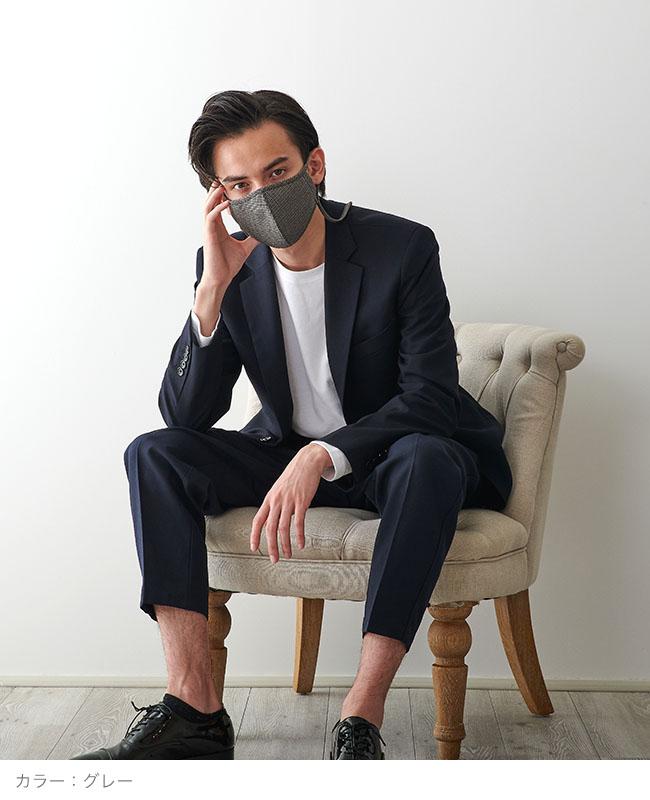 ネックストラップマスク 【gunclub check】