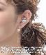 ★ネコポス送料無料★【片耳販売】パヴェフラワースティックピアス  P5046【mbgt】