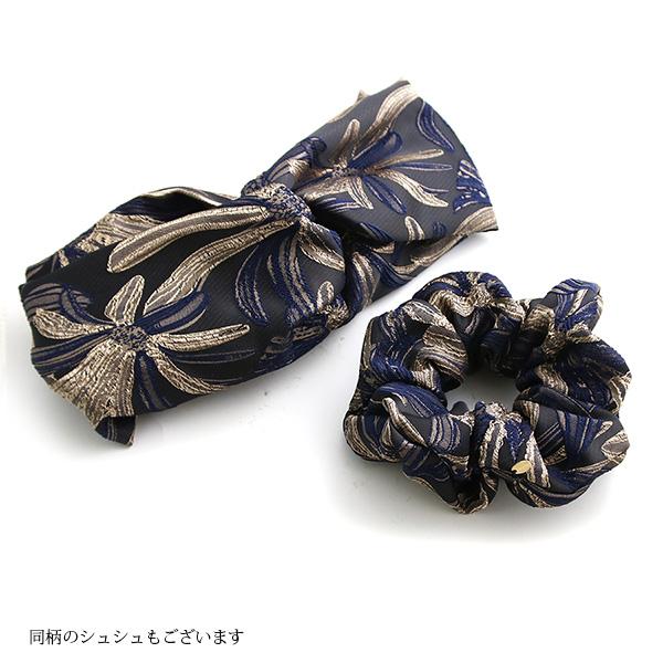 【GINGER6月号掲載】花柄刺繍クロスターバンへアバンド HB-90