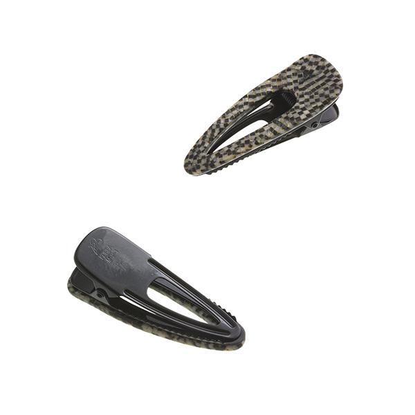 シックなモノトーンカラーくりぬきデザインヘアクリップ (S) H7172