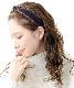 ★ネコポス送料無料★フリル×ベルベットカチューシャ  ヘアアクセ ヘアアクセサリー レディース 上品 シンプル かわいい おしゃれ HK-238【mbgt】
