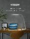wasser75 LEDデスクライト 目に優しい 無段階調光 3段階調色 ホワイト シンプル 学習机 おしゃれ 電気スタンド 寝室 スタンドライト 卓上 ライト照明 LEDライト 勉強机 読書灯 在宅勤務 テレワーク