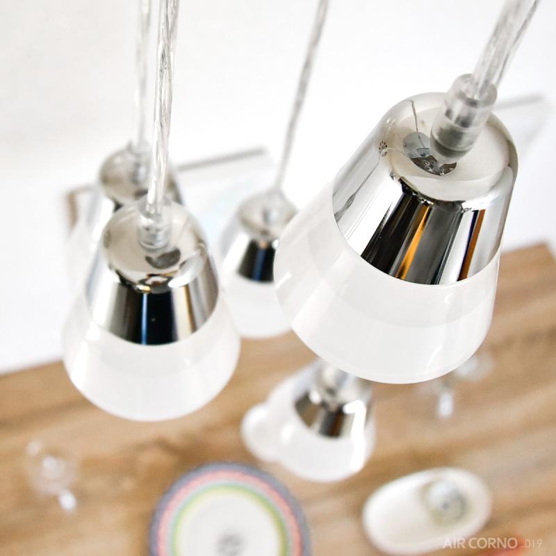 エアコルノ019 シーリングライト ペンダントライト led 5灯 6畳 レトロ おしゃれ シンプル アクリル シーリング 照明 天井照明 インテリア照明 ダイニング用 食卓用 北欧