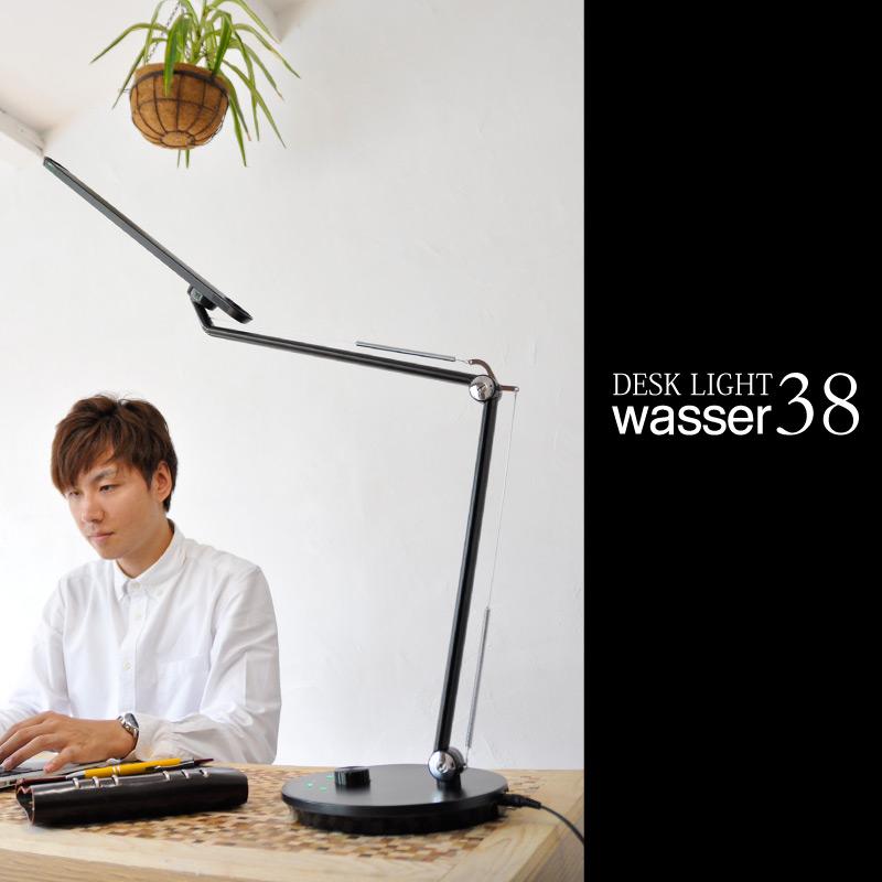 wasser38 LEDデスクライト LED卓上ライト デスクライト ledライト デスクスタンド テーブルライト 調光 調色 照明 間接照明 電気スタンド ライト スタンドライト おしゃれ 学習机 寝室 リビング オフィス 読書灯