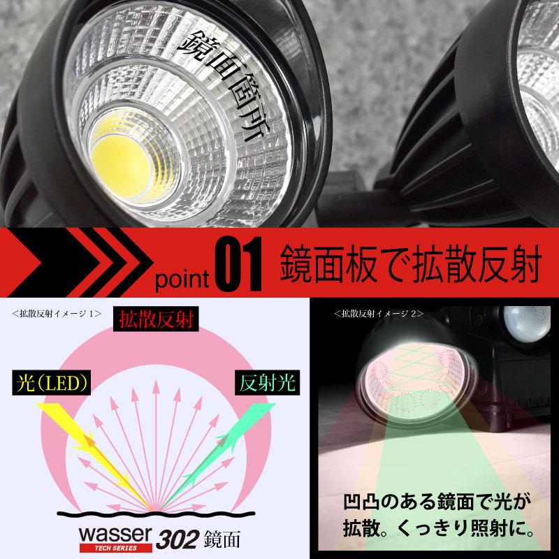 【送料無料】防犯ライト センサーライトお得2個セット! LED 乾電池式 屋外 おしゃれ wasser 壁掛け照明 人感センサーライト ブラケットライト 防犯ライト ledライト