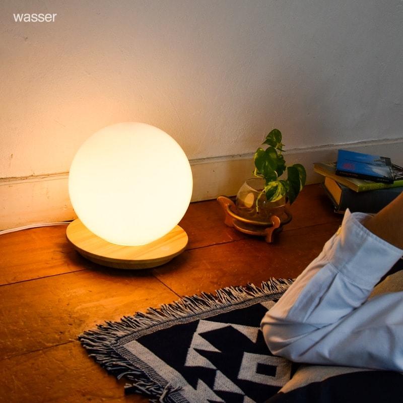 テーブルランプ テーブルライト LED ランプ ベッドサイド wasser 読書灯 タッチセンサー 照明 間接照明 フロアライト 電気スタンド 卓上 寝室 子供 授乳灯 常夜灯 北欧 おしゃれ