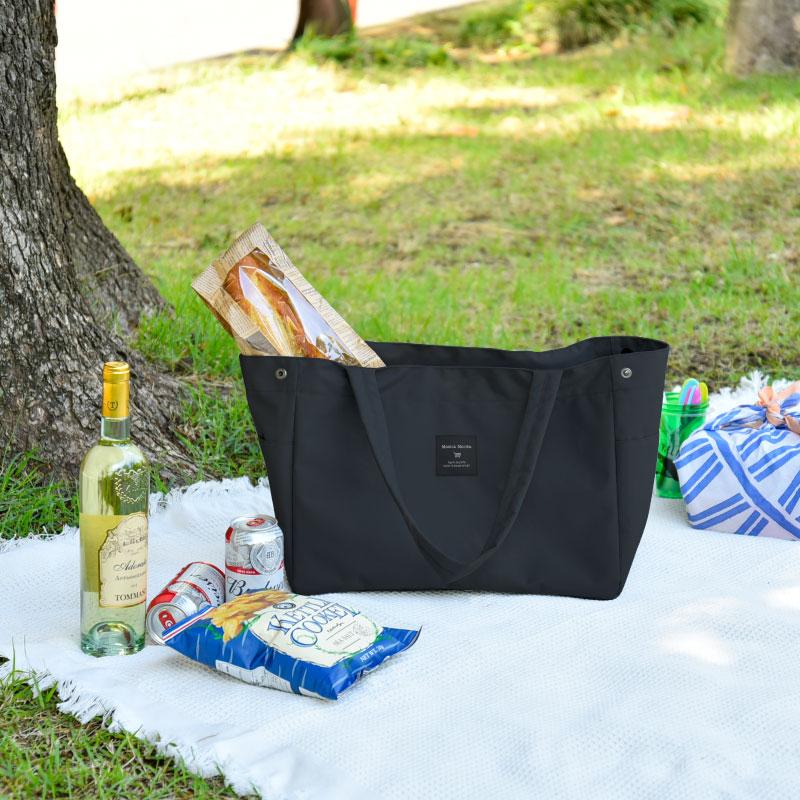 折り畳み式 ショッピングバック M 保冷 保温 機能 シークレットカバー付き エコバッグ ワイドポケット