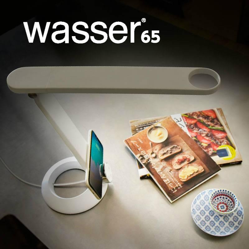 wasser65 ワイヤレス充電機能 LEDデスクライト 北欧 電気スタンド デスクスタンド スタンドライト 調光 寝室 卓上ライト 学習机 学習用 目に優しい おしゃれ デスクライト 読書灯 照明 ライト テレワーク 在宅勤務