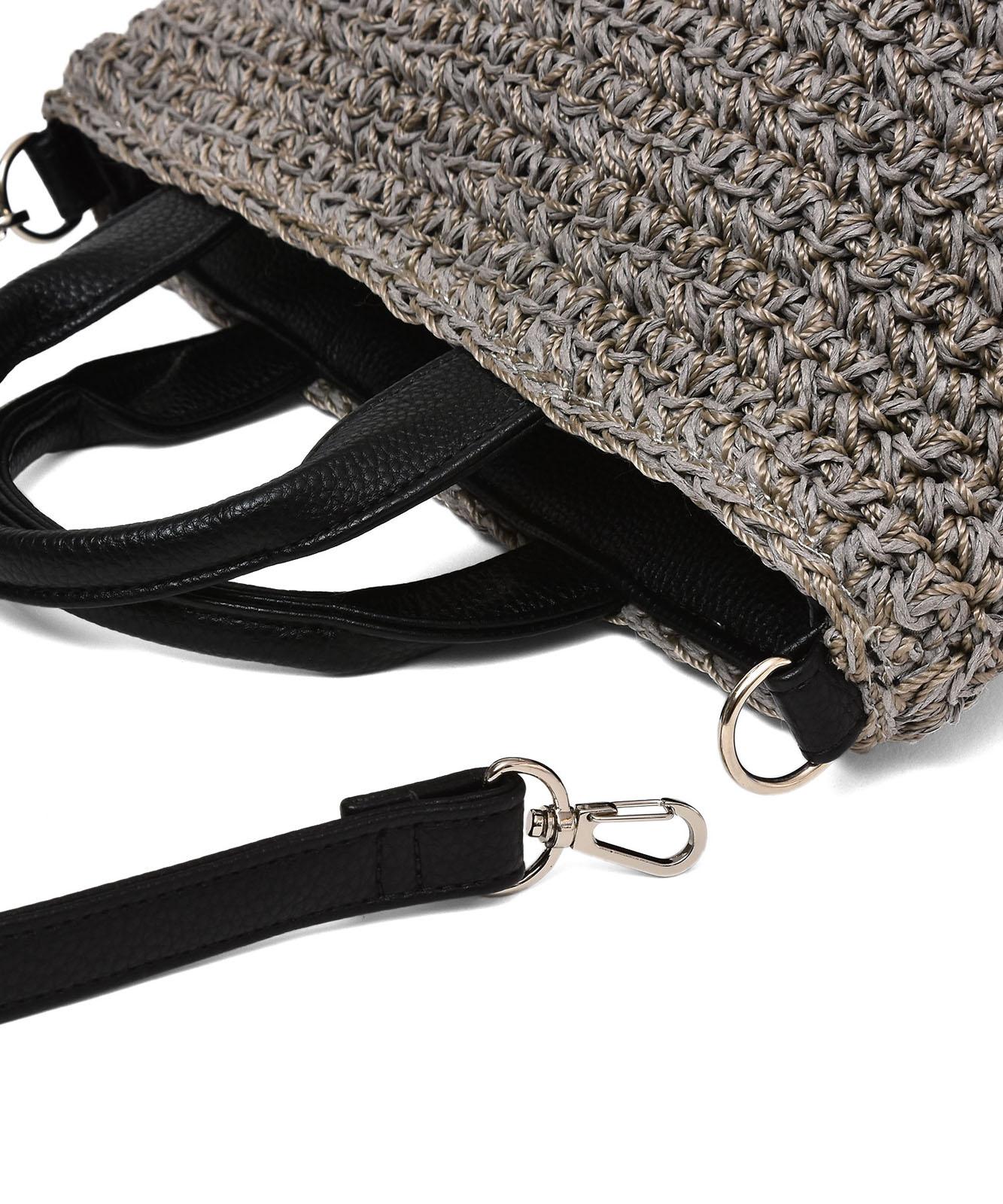 編みカゴ2way舟形トートバッグ