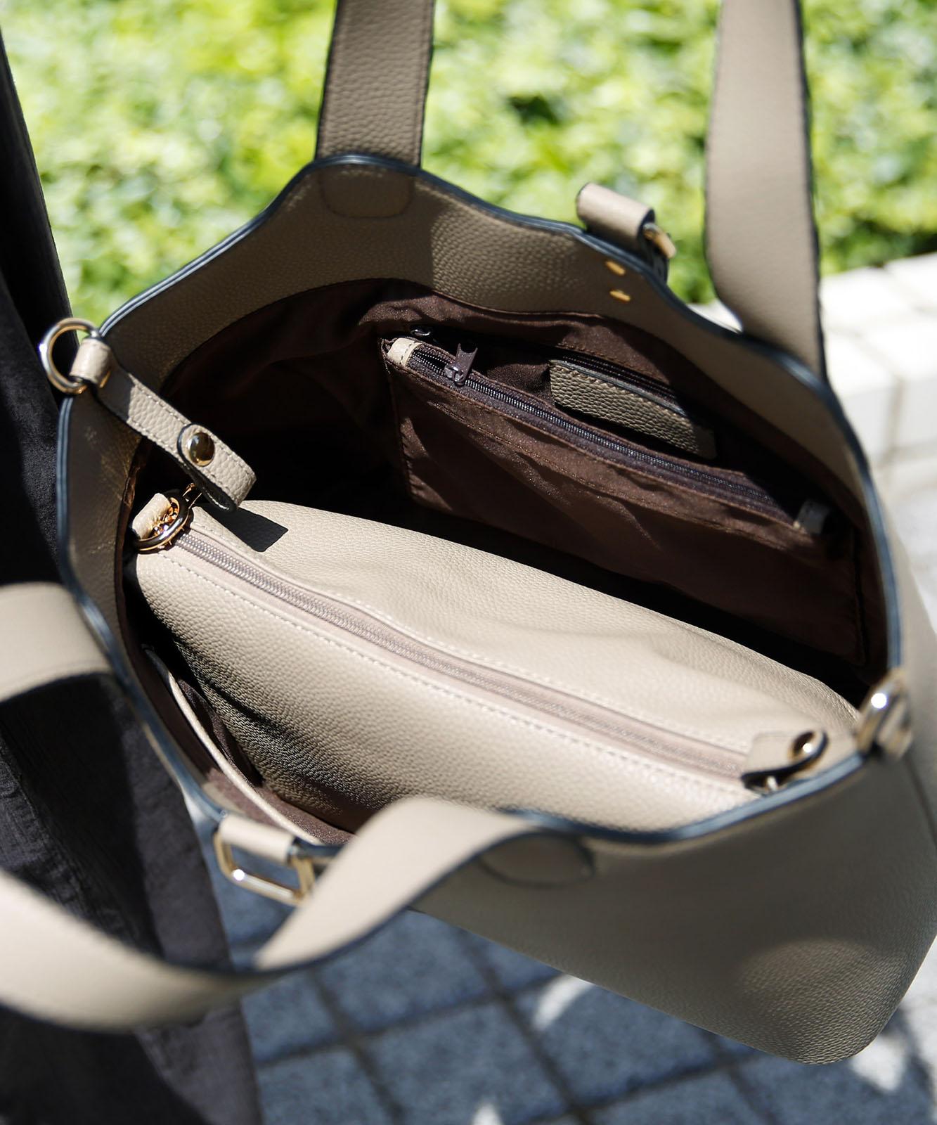 インナーバッグ付き3wayトートバッグ