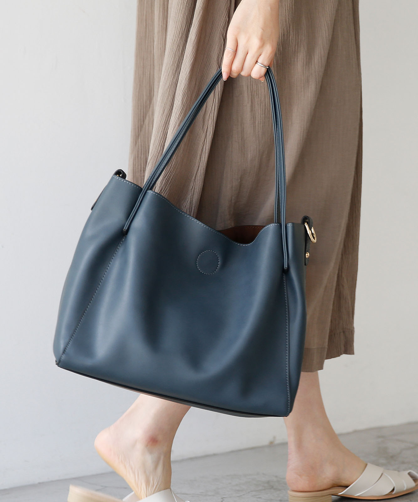 インナーバッグ付き2wayトートバッグ