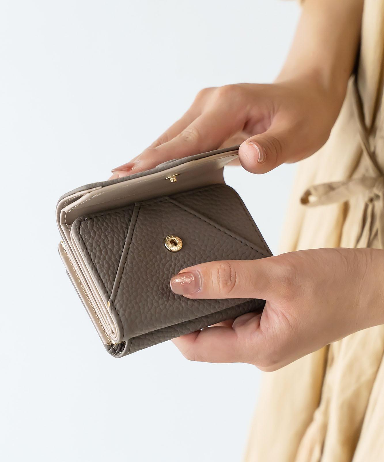 がま口三つ折りmini財布