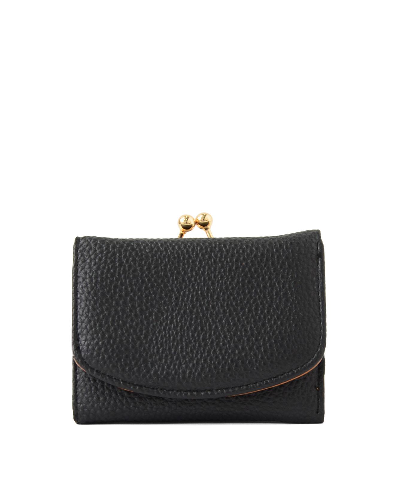 セパレートがま口二つ折りミニ財布