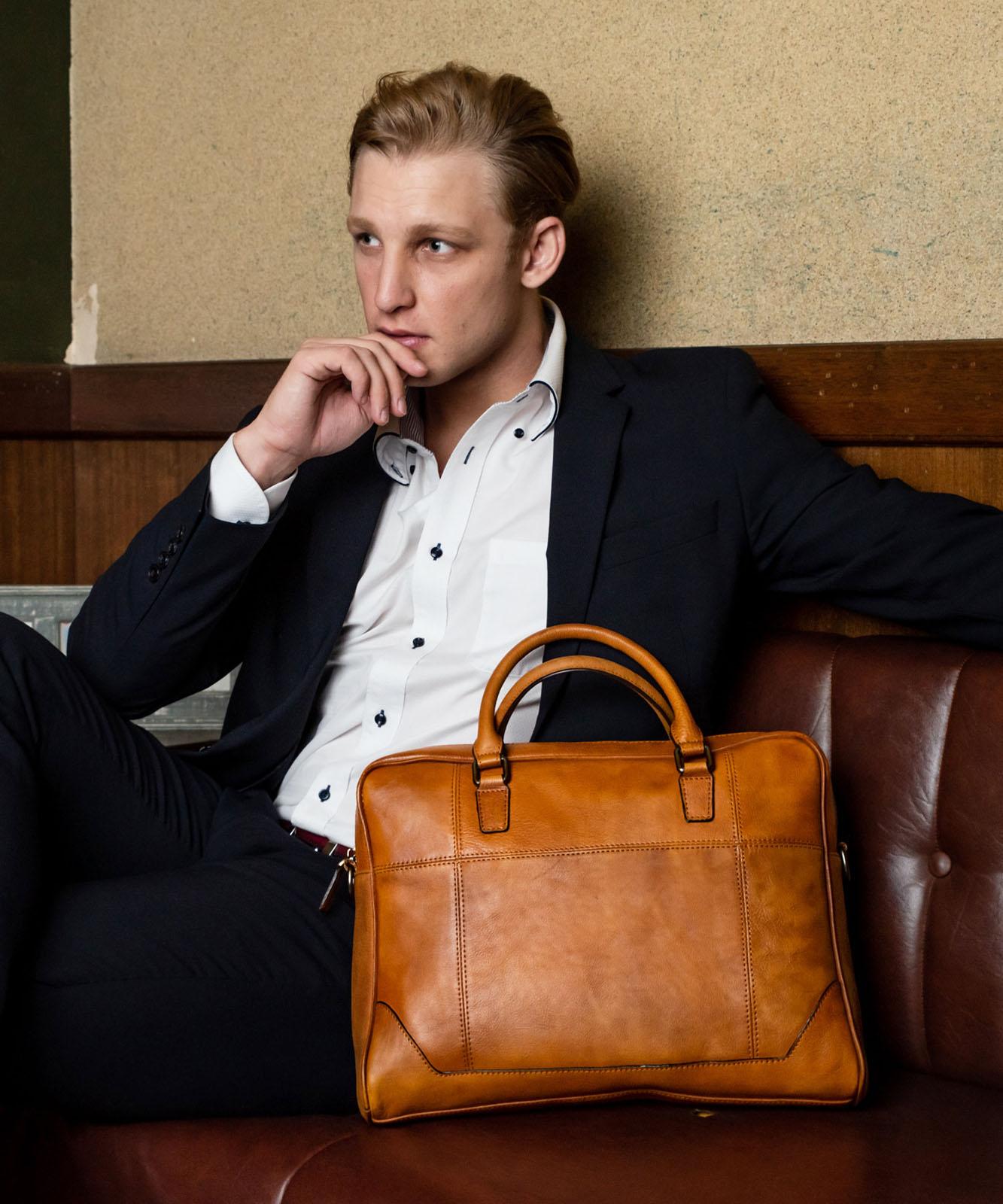 本牛革2wayビジネスバッグ