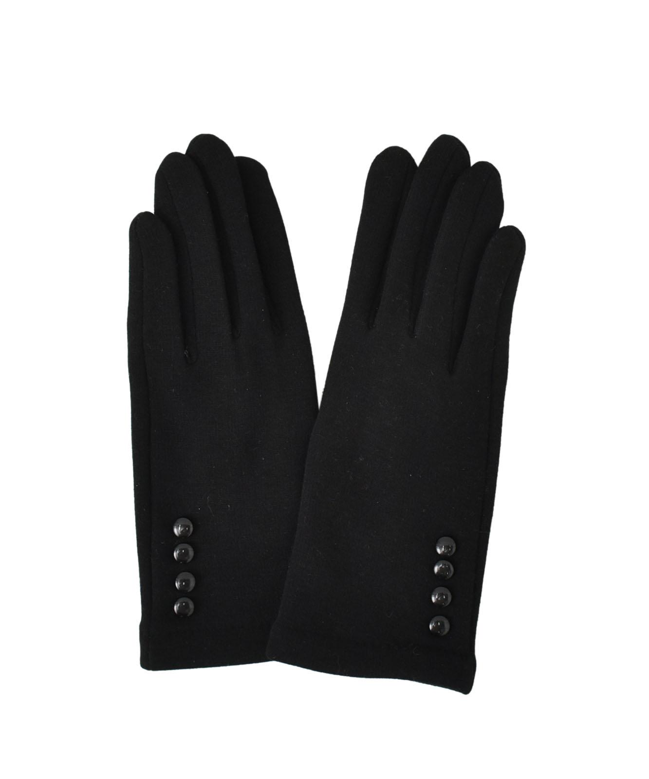 ミニボタン付きタッチパネル対応手袋(抗菌加工)