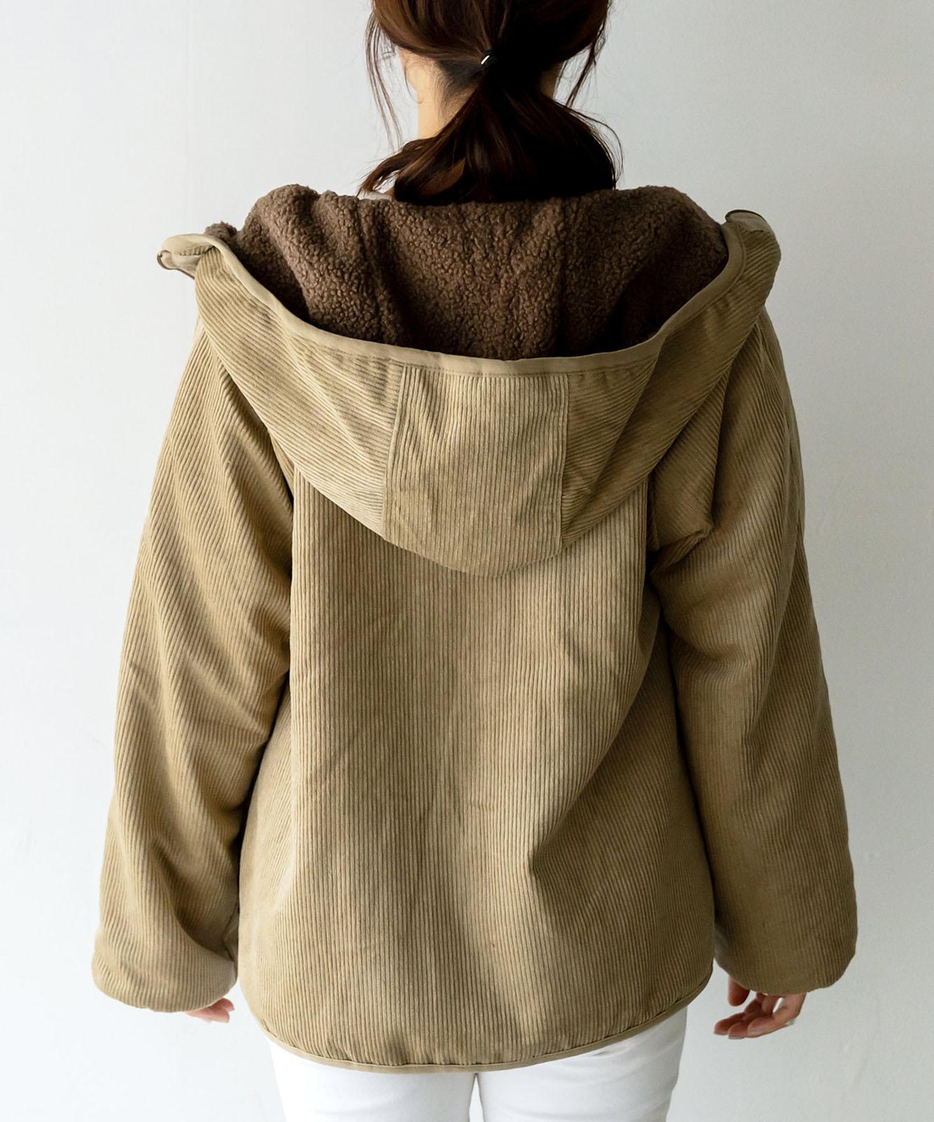 ボア×コーデュロイリバーシブルマウンテンジャケット