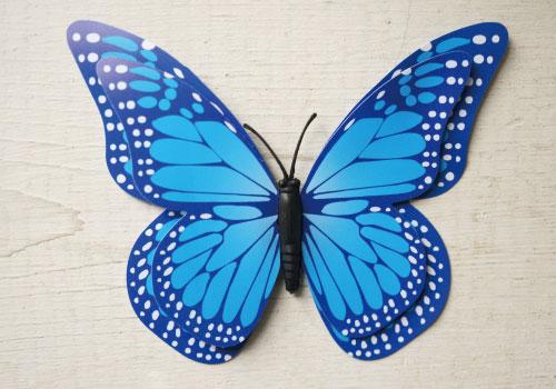 バタフライマグネットBL(ブルー)