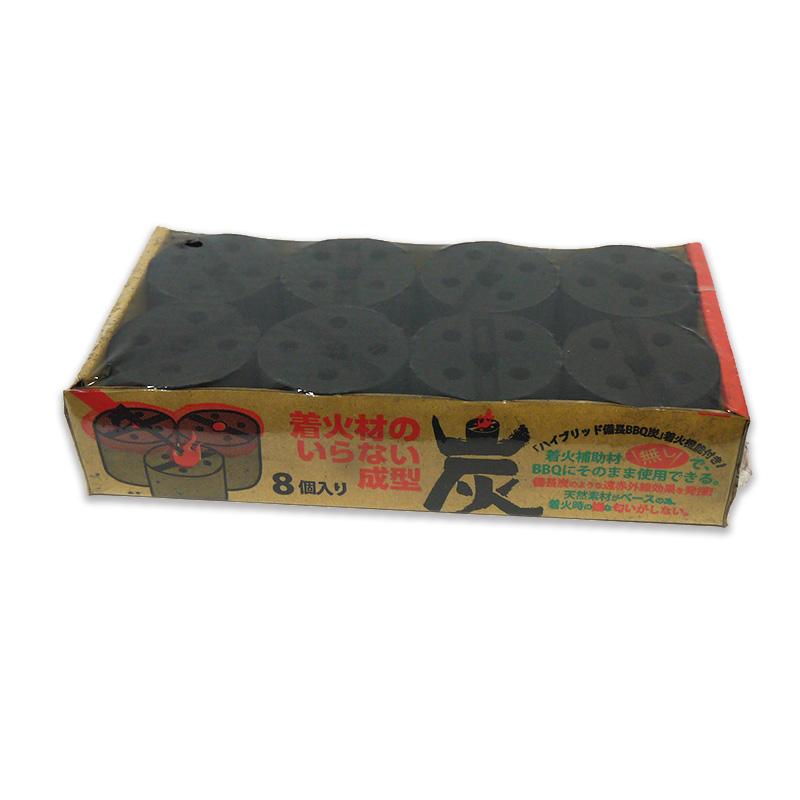 ●着火材のいらない成型炭8個入り