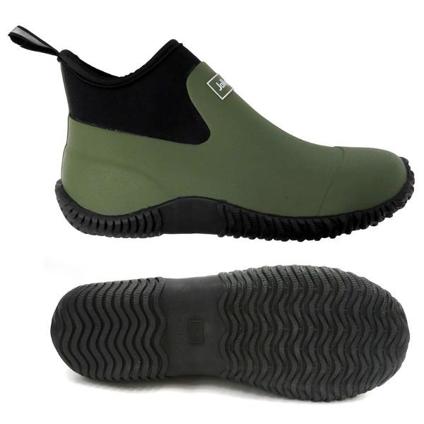 ●足にぴったり防水ブーツ カーキ