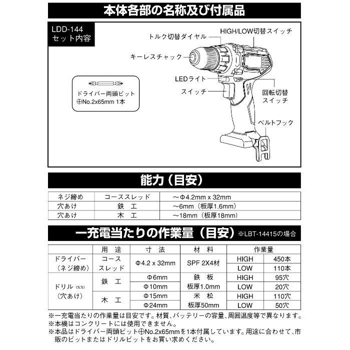 ●充電式 ドリル&ドライバー(本体のみ)