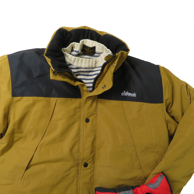 ●防水防風ヒーター内蔵ジャケット マスタードイエロー