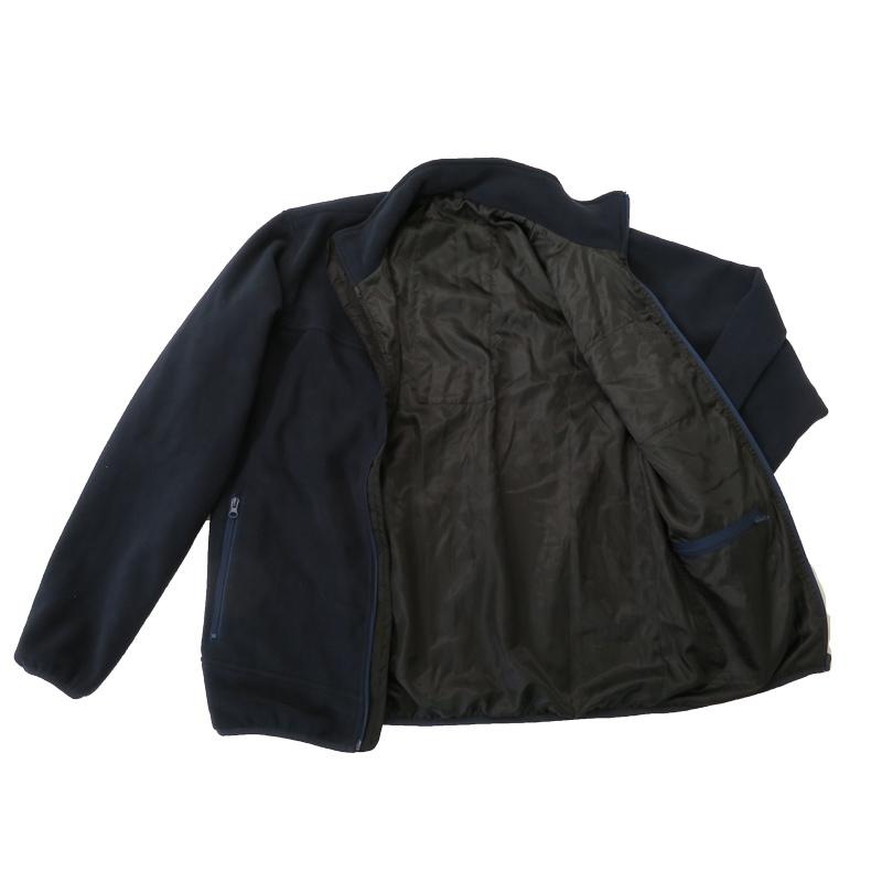 ●ヒーター内蔵フリースジップアップジャケット ネイビー