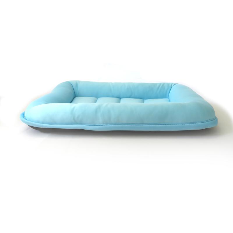 ●接触冷感洗えるペットマット ブルー