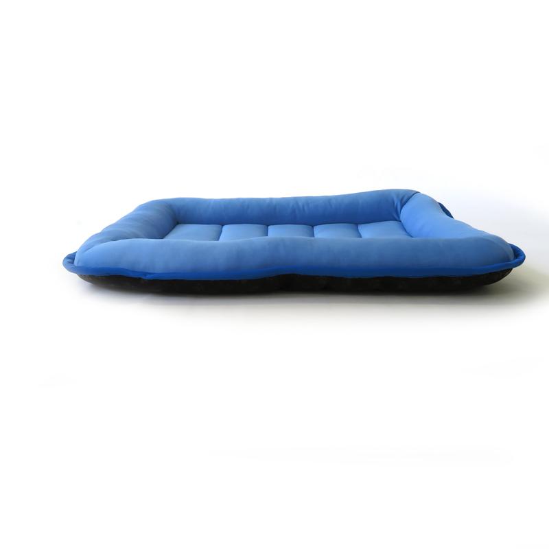 ●高冷感洗える ズレにくいペットマット S ブルー