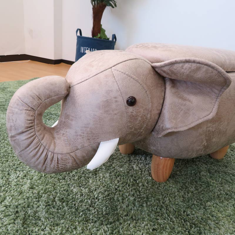 ●動物スツール収納付 ゾウ