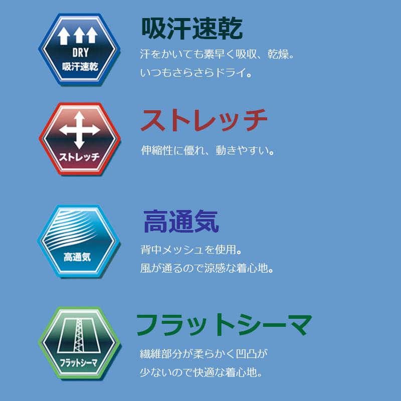 ■LX107バックメッシュパワーサポート半袖ブルー
